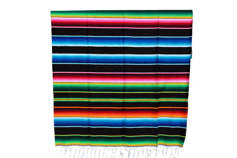 Mexikanische Decke -  Serape - XL - Schwartz