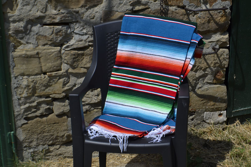 Mexican blanket - Serape - XL - Blue
