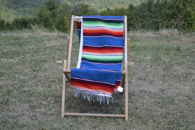 Mexicaanse deken - Serape - XL - Blauw - BBXZZ0blu