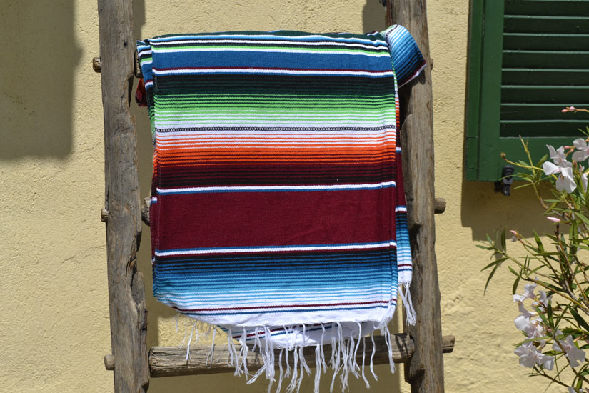 Couverture mexicaine -  Serape - XL - Brun - BBXZZ0brown
