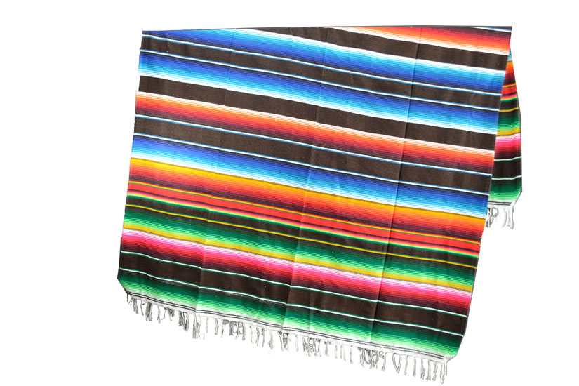 Coperta messicana -  Serape -  XL -  Marrone - BBXZZ0darkbrown