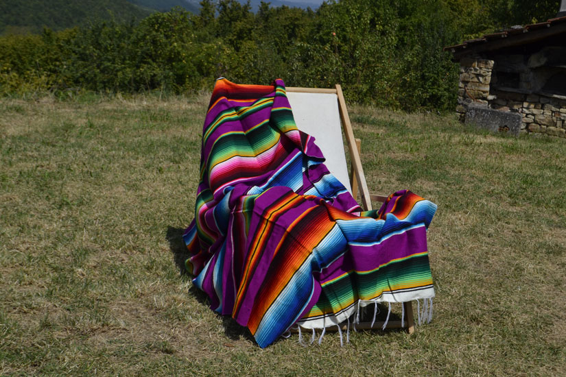Mexican blanket - Serape - XL - Purple - BBXZZ0fuchsia