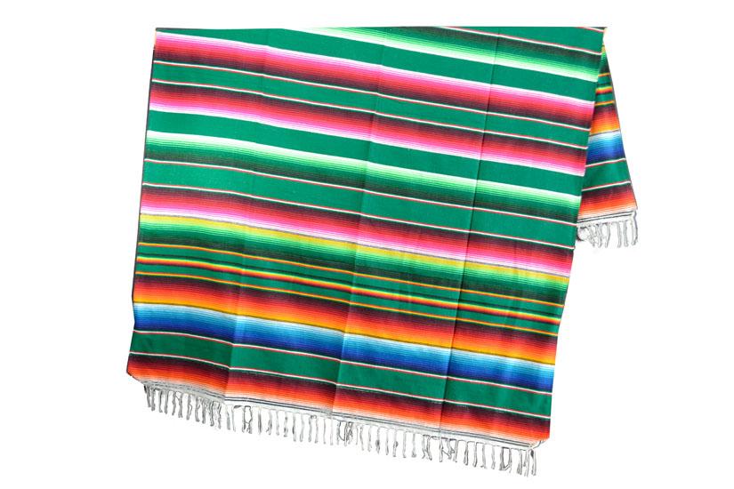 Mexicaanse deken - Serape - XL - Groen - BBXZZ0green3