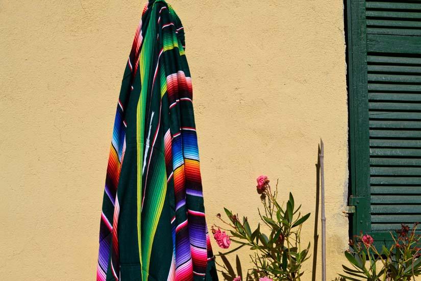 Mexican blanket - Serape - XL - Green - BBXZZ0green4