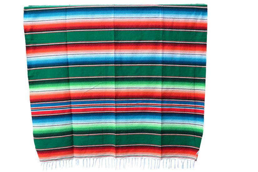 Mexikanische Decke -  Serape - XL - Grün