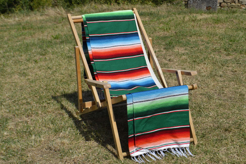 Couverture mexicaine -  Serape - XL - Vert - BBXZZ0green