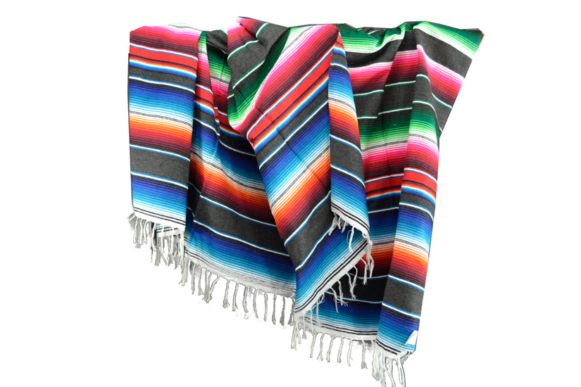 Mexicaanse deken - Serape - XL - Grijs - BBXZZ0grey2
