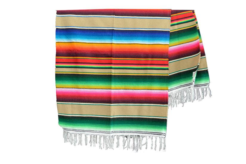 Mexicaanse deken - Serape - XL - Bruin - BBXZZ0lightbrown