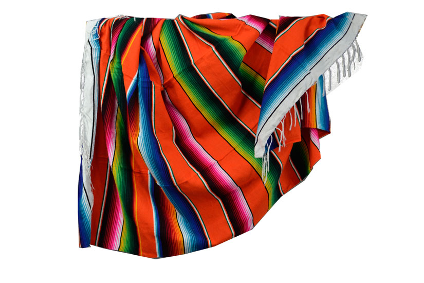 Mexican blanket - Serape - XL - Orange - BBXZZ0orange1