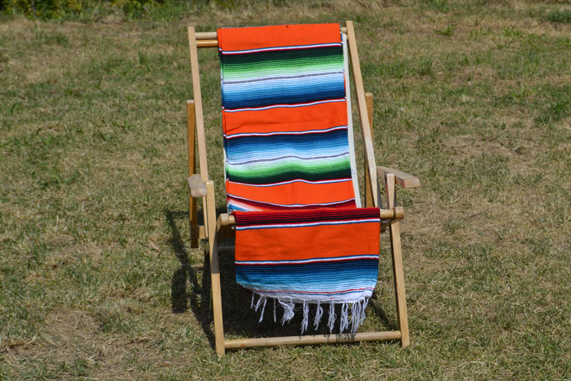 Mexikanische Decke -  Serape - XL - Orange