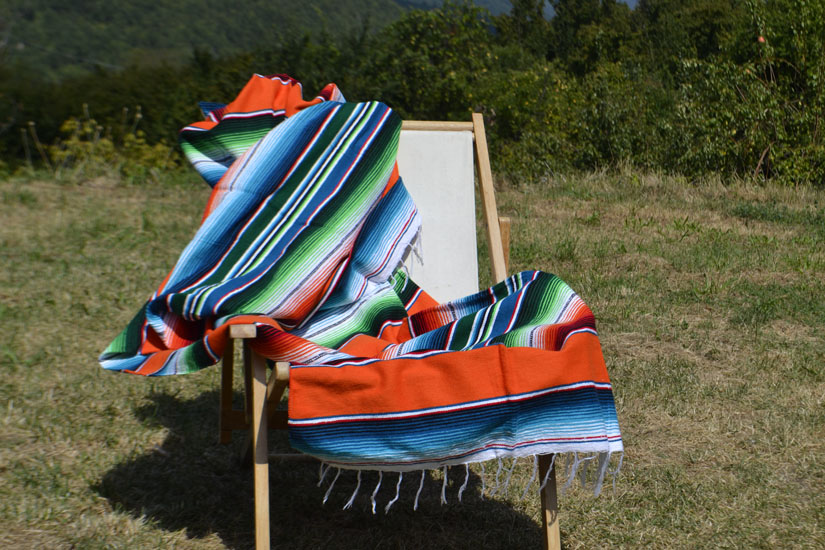 Mexican blanket - Serape - XL - Orange