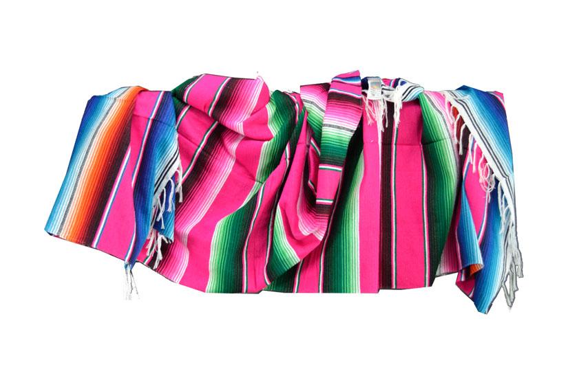 Mexikanische Decke -  Serape - XL - Rose  - BBXZZ0pink3