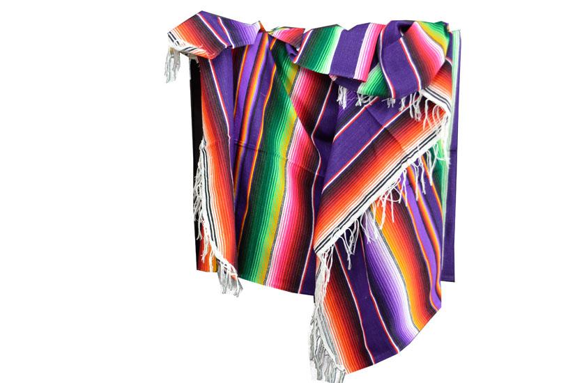 Couverture mexicaine -  Serape - XL - Violet - BBXZZ0purple1