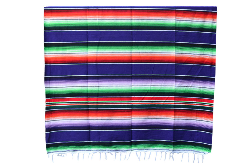 Couverture mexicaine -  Serape - XL - Violet - BBXZZ0purple