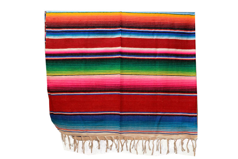 Mexican blanket - Serape - XL - Red