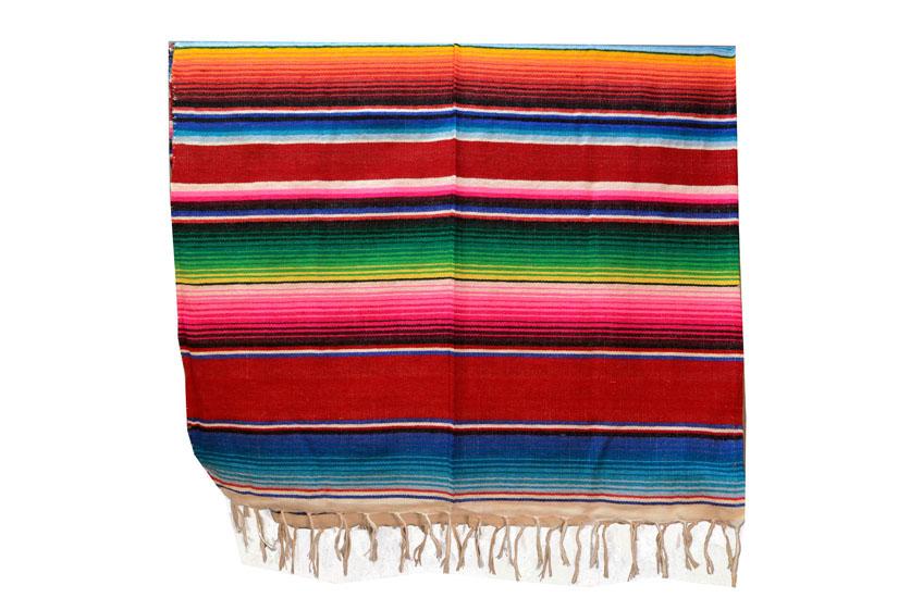 Mexicaanse deken - Serape - XL - Rood