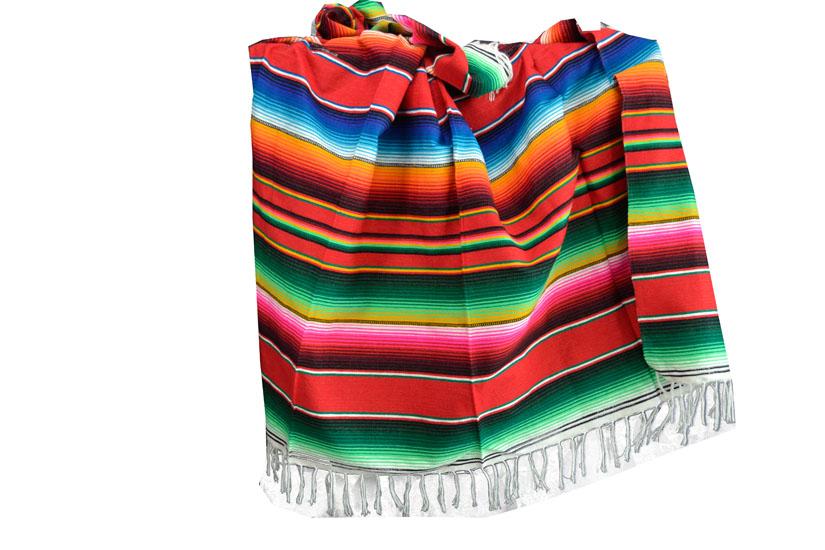 Mexicaanse deken - Serape - XL - Rood - BBXZZ0red2
