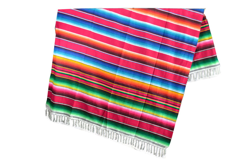 Mexican blanket - Serape - XL - Red - BBXZZ0red3