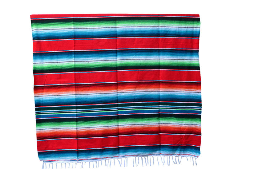 Mexican blanket - Serape - XL - Red - BBXZZ0red