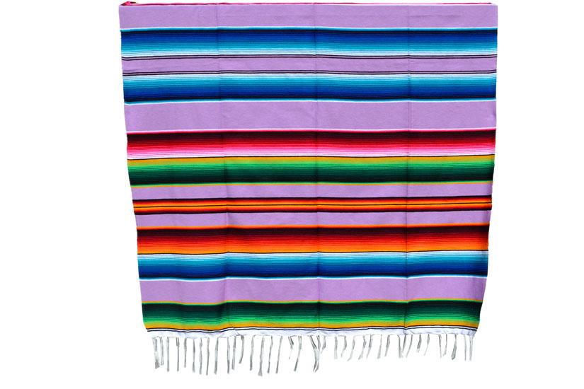 Mexikanische Decke -  Serape - XL - Violett