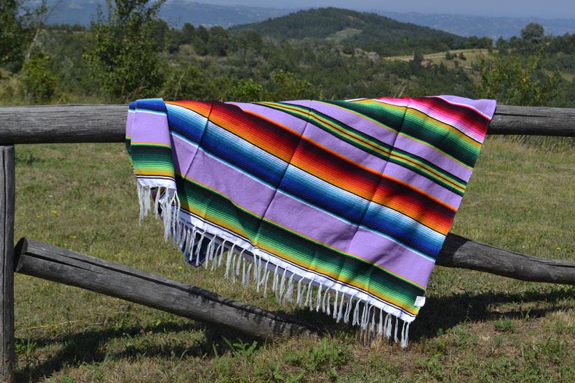 Couverture mexicaine -  Serape - XL - Violet - BBXZZ0violet