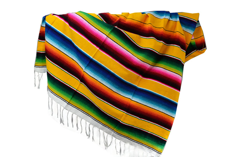 Mexican blanket - Serape - XL - Yellow - BBXZZ0yellow1