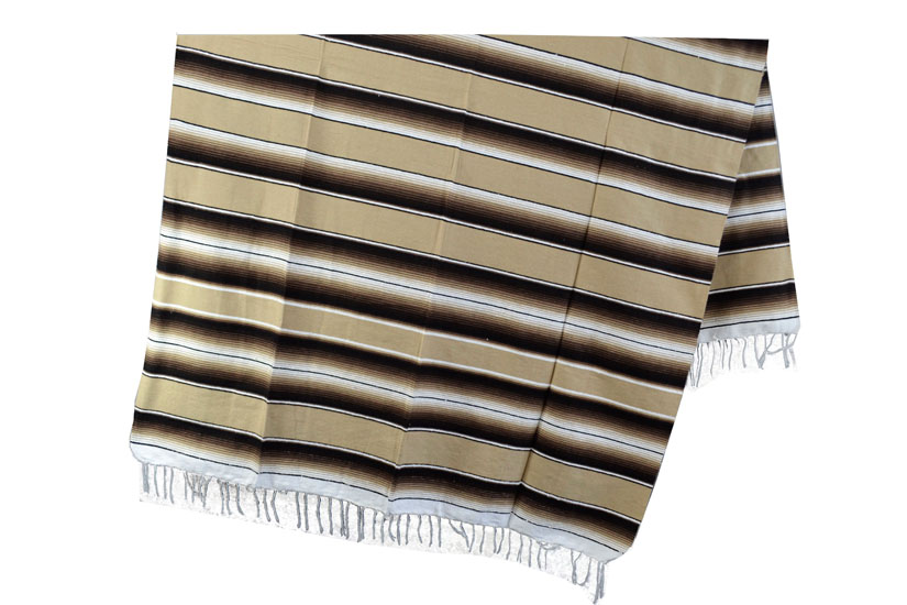 Coperta messicana -  Serape -  XL -  Marrone - BBXZZ1beigebrown1