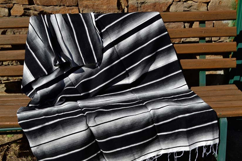 Mexican blanket - Serape - XL - Black