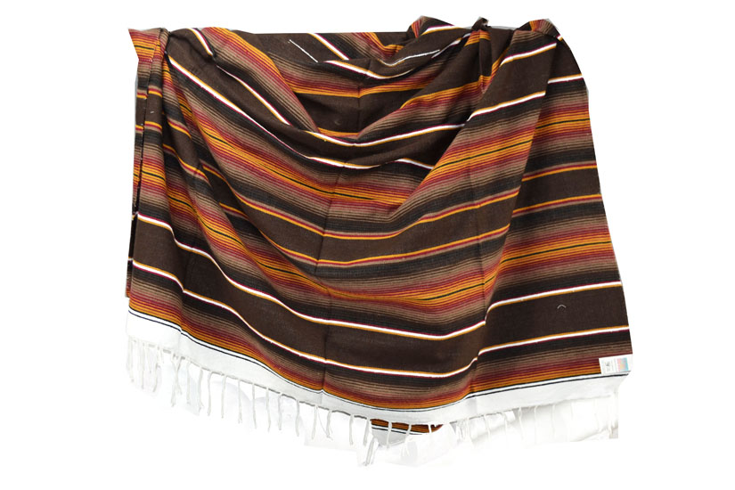 Mexican blanket - Serape - XL - Brown - BBXZZ1browngold