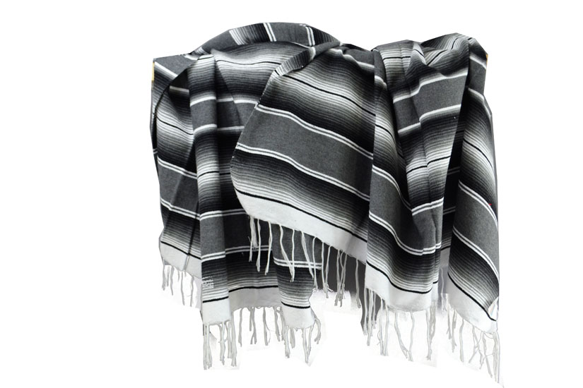 Couverture mexicaine -  Serape - XL - Gris - BBXZZ1grey