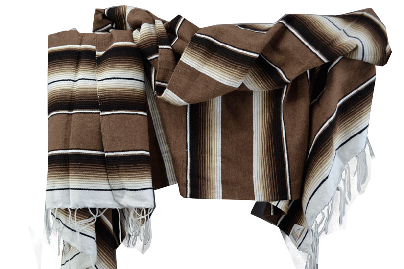 Mexican blanket - Serape - XL - Brown - BBXZZ1mocca