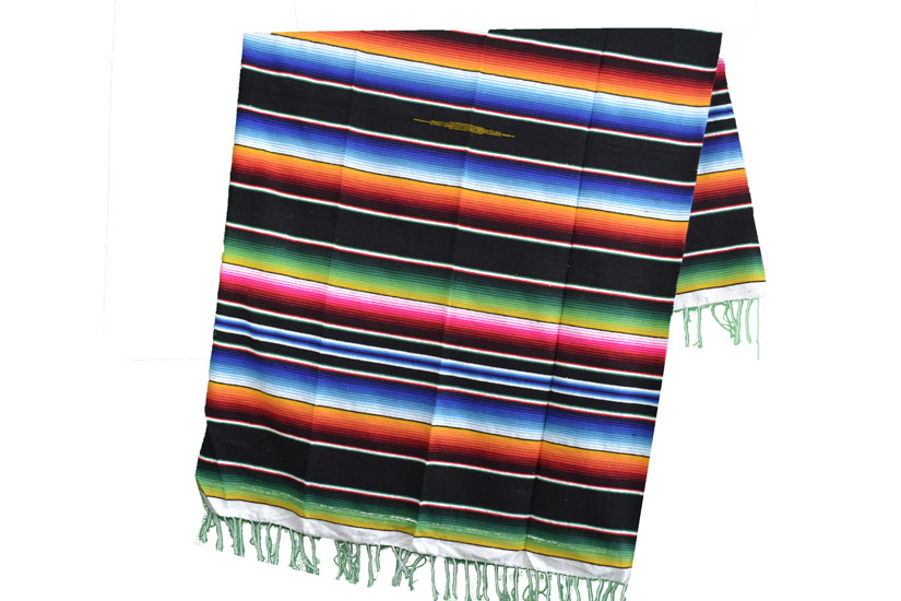Couverture mexicaine -  Serape - L - Noir - BPXZZ0black