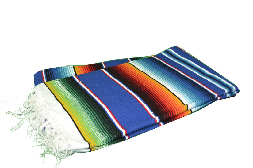 Couverture mexicaine -  Serape - L - Blue - BPXZZ0blu