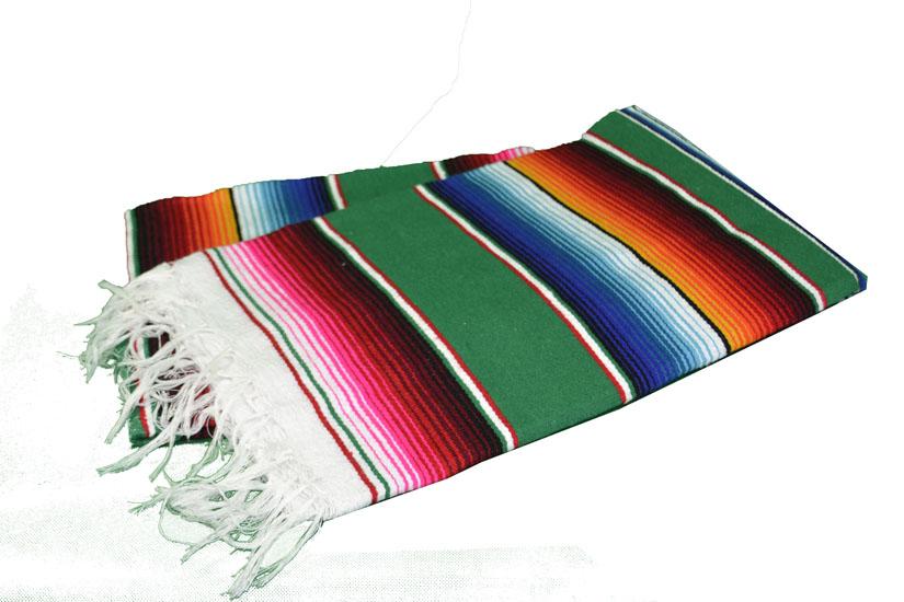 Mexicaanse deken - Serape - L - Groen - BPXZZ0green