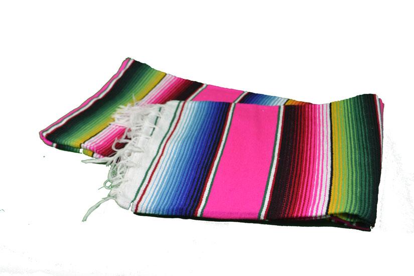 Couverture mexicaine -  Serape - L - Rose - BPXZZ0hotpink