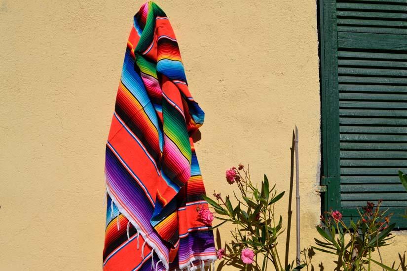 Mexican blanket,Serape. Orange