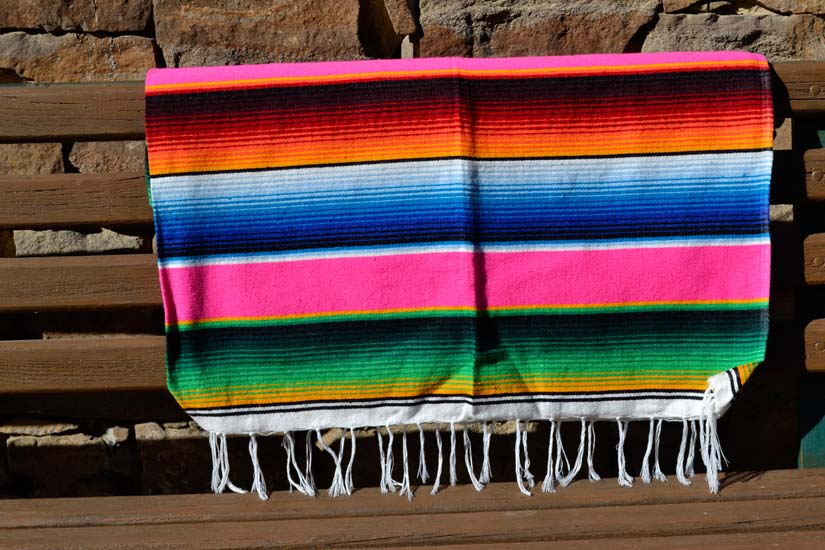 Mexican blanket, Serape. Pink