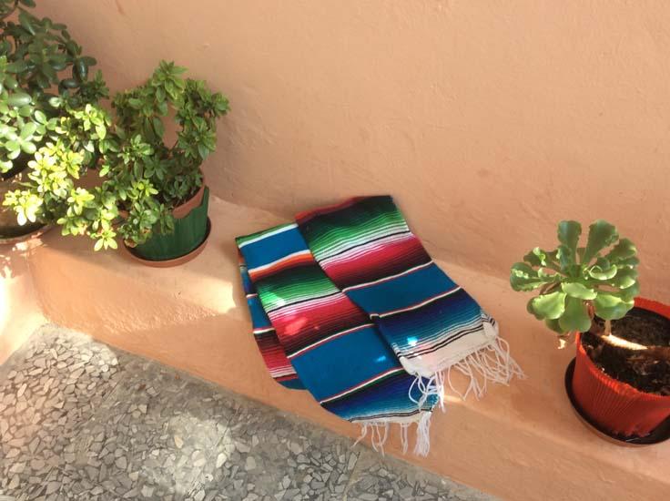 Mexican blanket,Serape. Blue