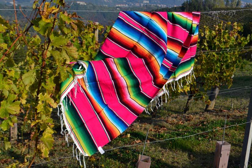 Mexican blanket - Serape - M - Pink