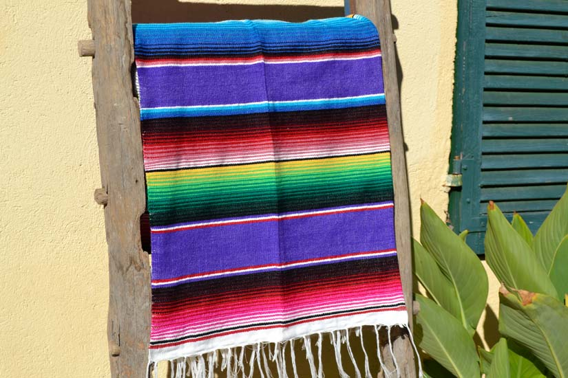 Couverture mexicaine -  Serape - M - Violet - BYLZZ0purple