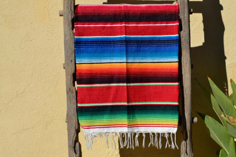 Mexican blanket - Serape - M - Red