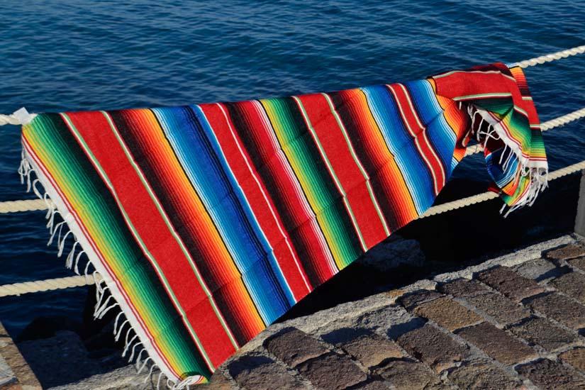 Coperta messicana -  Serape -  M -  Rosso