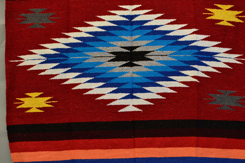 Mexican blanket, Indian. Red