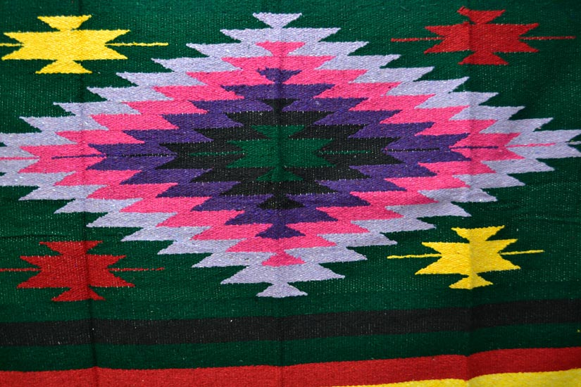 Mexican blanket - indian - L - Green