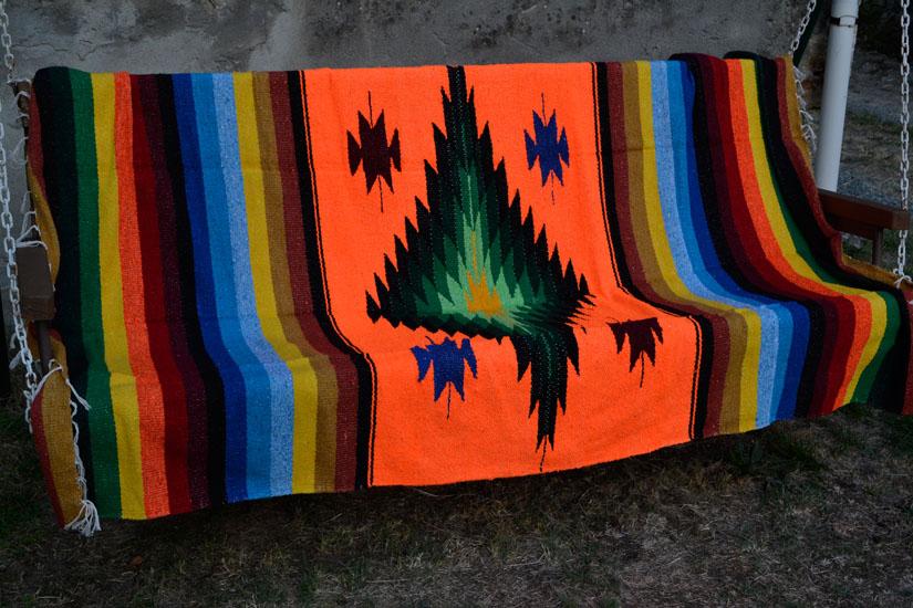 Mexican blanket, Indian. Orange