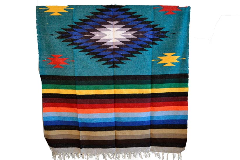 Mexican blanket,Indian. Blue