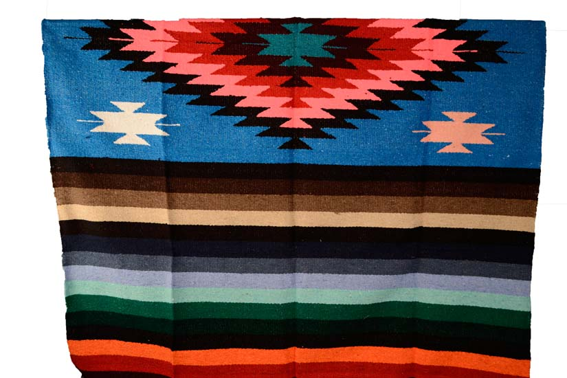 Mexican blanket, Indian. Turquoise