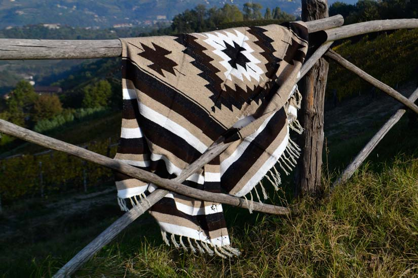 Mexican blanket - indian - L - Brown