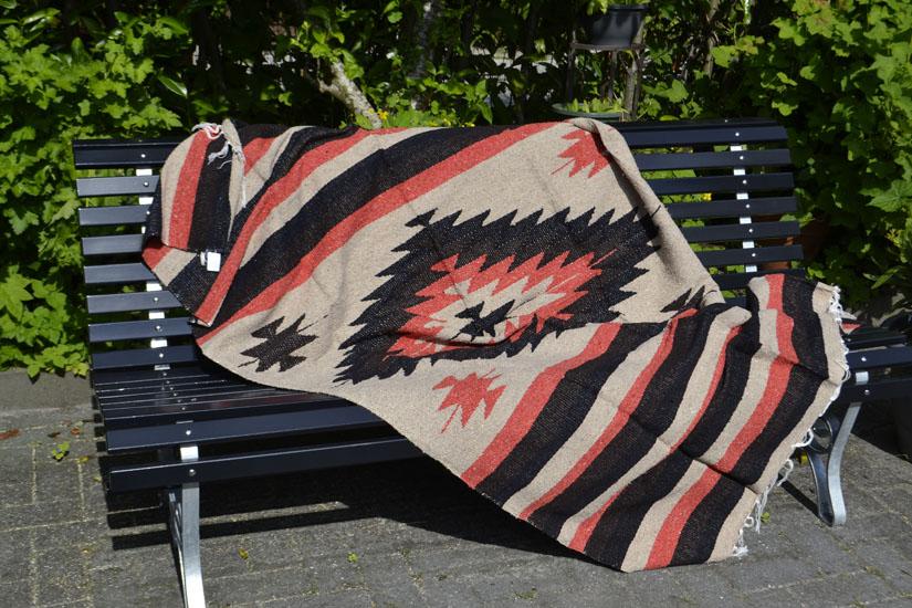 Mexikanische Decke -  Indianer - L - Naturlich  - EEEZZ1DGnat3