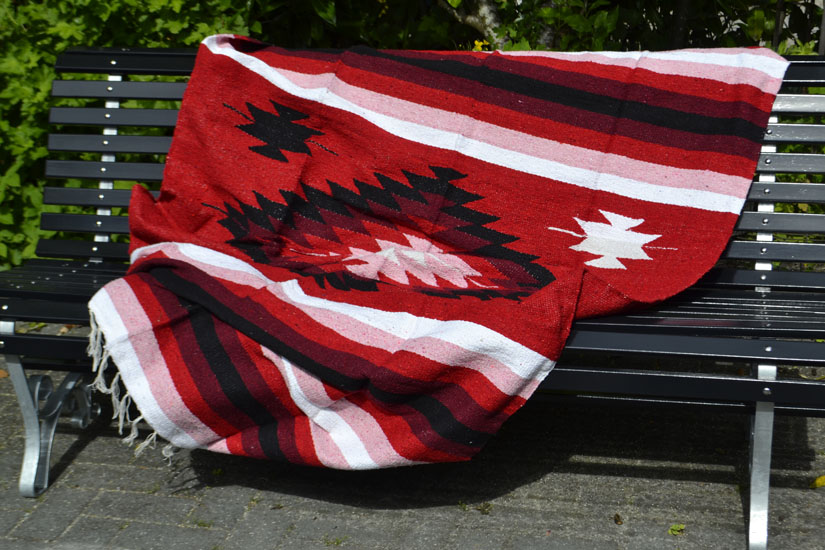 Mexican blanket - indian - L - Red - EEEZZ1DGred1